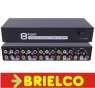 DISTRIBUIDOR REPARTIDOR SPLITTER AUDIO Y VIDEO 1 ENTRADA 8 SALIDAS RCAS BD8904 -