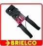 HERRAMIENTA CRIMPAR CONECTORES TELEFONICO RED CRIMPADORA 4P4C 6P6C 8P8C BD10909 -