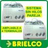 INTERCOMUNICADOR INALAMBRICO 220V SIN HILOS SISTEMA 2 TERMINALES 4 CANALES BD9801 -