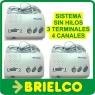 INTERCOMUNICADOR INALAMBRICO 220V SIN HILOS SISTEMA 3 TERMINALES 4 CANALES BD9802 -