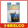 KIT ELECTRICO ESCOLAR PILA 4.5V INTERRUPTOR PORTALAMPARAS BOMBILLA CABLE BD3993 -
