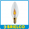 LAMPARA BOMBILLA VELA EFECTO LLAMA 230VAC 50HZ 1.5W CASQUILLO E14 BD4098 -