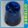 LAMPARA LUZ INCANDESCENTE ROTATIVA EMERGENCIA AZUL ALIMENTADOR USB O 3XAA BD9297 -