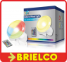 LAMPARA LUZ SICO AMBIENTE A LEDS 4 COLORES 16 PROGRAMAS 5W CONTROL REMOTO BD6459 -