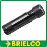 LINTERNA 8 LEDS ECO-LIGHT BAJO CONSUMO FL DUO CON PUNTERO LASER METALICA BD6474 -