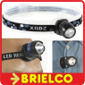 LINTERNA CON LED MUY LUMINOSO BANDA FRONTAL AJUSTABLE Y CLIP PILAS CR2016 BD2004 -