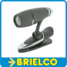 LINTERNA CON PINZA LECTURA PERSONAL PARTITURAS LIBROS 3 LEDS 3 PILAS BOTON BD904 -