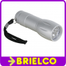 LINTERNA DE BOLSILLO 9 LEDS ALTA LUMINOSIDAD ALUMINIO 98X33MM CON CORREA BD3733 -