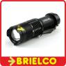 LINTERNA DE BOLSILLO LED 3W RESISTENTE CON ENFOQUE 1XAA ALUMINIO NEGRA BD5365 -