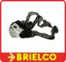 LINTERNA FRONTAL CABEZA ORIENTABLE 8 LEDS MUY POTENTES BAJO CONSUMO 3XAAA BD902 -