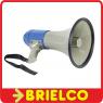 MEGAFONO PORTATIL 25W SIRENA Y MICROFONO MANOS LIBRES 8 PILAS R14X1.5V DIAMETRO 230MM BD1637 -
