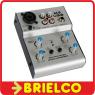 MESA DE MEZCLAS MINIATURA COMPACTA 2 CANALES AUDIO PUERTO USB CONEXION PC BD3605 -