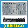 MESA DE MEZCLAS PROFESIONAL 8 CANALES 4 PHONO 4 MICRO CROSS-FADER DJ-MICRO BD438 -