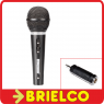 MICROFONO DINAMICO 600 OHM XLR CANON JACK 6.3MM Y ADAPTADOR A 3.5MM NEGRO BD2135 -