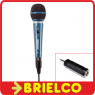 MICROFONO DINAMICO 600 OHMIOS XLR CANON JACK 6.35MM Y ADAPTADOR A 3.5MM BD1641 -