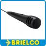 MICROFONO DINAMICO UNIDIRECCIONAL NEGRO CABLE 3 MTRS CONECTOR JACK 6.35MM BD2356 -