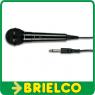 MICROFONO DINAMICO UNIDIRECCIONAL NEGRO CABLE 3 MTRS CONECTOR JACK 6.35MM BD2357 -