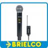 MICROFONO INALAMBRICO DE MANO Y RECEPTOR UHF 16 CANALES PANTALLA DIGITAL BD8544 -