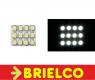 MODULO DE ILUMINACION 12 LEDS BLANCOS DIFUSOR REDONDO 12V 17X20MM COCHE BD3734 -
