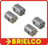 4 MOTORES 12VDC 180mA 12000 RPM 6V-14VDC L 33MM D 28MM EJE 2.3MM VELMOT3N BD3253 -