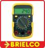 MULTIMETRO POLIMETRO TESTER DIGITAL COMPACTO MINIATURA FUNDA ANTICHOQUE BD6618 -