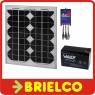 PANEL ENERGIA SOLAR 10W PROFESIONAL + REGULADOR DE CARGA Y BATERIA 12V 7A BD6751 -