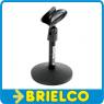 PIE BASE SOBREMESA PARA MICROFONO ALTURA 150MM DIAMETRO 105MM CON PINZA BD3671 -