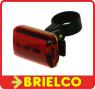 PILOTO TRASERO BICICLETA LED FIJA E INTERMITENTE 2XAAA 1.5V REFLECTANTE BD4105 -