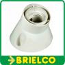 PORTALAMPARA ZOCALO CURVADO INCLINADO E27 BLANCO PVC FIJACION CON TACOS BD4228 -