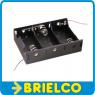 PORTAPILAS PLASTICO NEGRO 3 PILAS R20 106X71X28MM CABLES 200MM BD4184 -