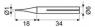 PUNTA SOLDADOR 1MM LARGA DURACION DIAMETRO CUERPO INTERIOR 3MM EXT. 6MM  BD4016 -