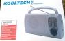 RADIO AM-FM ANALOGICA ALTAVOZ INCORPORADO 210X125X55 220V Y 4XR14 BLANCO BD5001 -