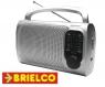 RADIO AM-FM ANALOGICA ALTAVOZ INCORPORADO 210X125X55 220V Y 4XR14 PLATA BD5002 -