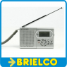 RADIO AM-FM MINI PORTATIL RELOJ ALARMA DESPERTADOR ALIMENTACION 2XAAA 3V BD6389 -