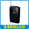 RADIO AM-FM PORTATIL ANALOGICA MINI 115X70X24MM CLIP CINTURON 2XAA NEGRA BD5311 -