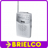 RADIO AM-FM PORTATIL ANALOGICA MINI 115X70X24MM CLIP CINTURON 2XAA PLATA BD5312 -