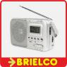 RADIO AM-FM-SW1-SW2 PORTATIL RELOJ ALARMA ALIMENTACION 220VAC O PILAS R20 BD6390 -