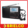 RADIO DIGITAL ESTEREO PORTATIL CON ALTAVOZ FM SW MW DSP RELOJ ALARMA LCD BD9377 -