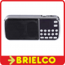 RADIO DIGITAL RECARGABLE CON ALTAVOZ FM MP3 USB MICRO SD LINTERNA LED BD9373 -
