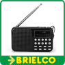 RADIO DIGITAL RECARGABLE CON ALTAVOZ FM MP3 USB SD LINTERNA LED GRABADORA BD9374 -