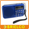 RADIO DIGITAL RECARGABLE CON ALTAVOZ FM MP3 USB SD LINTERNA LED GRABADORA BD9375 -