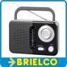 "RADIO PORTATIL AM-FM ANALOGICA NEGRA ASA ALTAVOZ 3"" JACK 3.5MM CABLE RED BD5316 -"