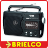 RADIO PORTATIL ASA AM-FM PILAS Y RED NEGRA SINTONIA ANALOGICA TMRAD030 BD5309 -