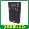 RADIO PORTATIL PLL AM-FM 40 PRESINTONIAS RELOJ ALARMA DISPLAY LCD CON LUZ BD5308 -
