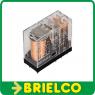 RELE ELECTROMAGNETICO MINIATURA MONOESTABLE 12VDC 5A DPDT 8 PINES OMRON BD11393 -