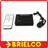 REPARTIDOR DISTRIBUIDOR SPLITTER HDMI 5 ENTRADAS 1 SALIDA PASIVO MANDO IR BD4386 -
