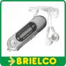 REPRODUCTOR MULTIMEDIA MP3 WAV GRABACION VOZ RADIO FM AURICULARES GRIS BD9317 -