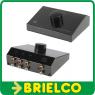 SELECTOR CONMUTADOR SWITCH AUDIO 3 ENTRADAS RCAS 1 SALIDA RCA Y VICEVERSA BD6485 -
