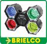 SICODELICO 144 LEDS 4 FOCOS ROJO VERDE AZUL AMARILLO 12-14VDC 220VAC BD2053 -