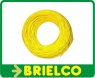 CABLE CONEXION SILICONA PARA ALTA TEMPERATURA 0.5MM SECCION 2MM DIAMETRO FUNDA AMARILLO -